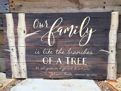 Our Family Branches Pallet Sign,pnl0549