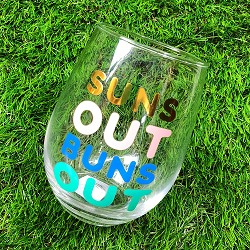 Suns Out Wine Glass,10-04859-019