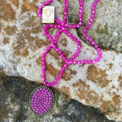 Olivia Long Necklace,1N335-GOLD/CANDY